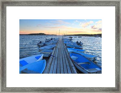 Cape Cod Harbor Boats Framed Print