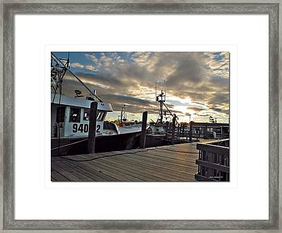 Cape Cod Harbor Framed Print by Joan  Minchak