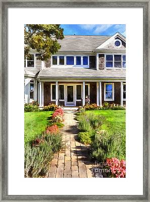Cape Cod Home Framed Print