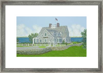 Cape Cod House Portrait Framed Print by David Hinchen