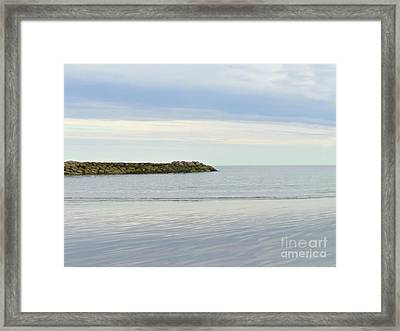 Cape Cod Jetty Sundown Framed Print