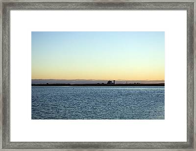 Cape Cod Lighthouse And Bay, Chatham Framed Print
