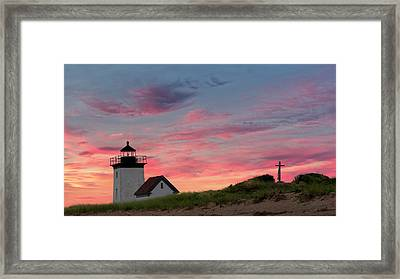 Framed Print featuring the photograph Cape Cod Long Point Light by Bill Wakeley