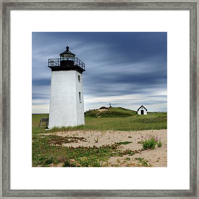 Cape Cod Long Point Lighthouse Square Framed Print by Bill Wakeley