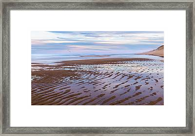Cape Cod Low Tide Sunset Framed Print by Bill Wakeley