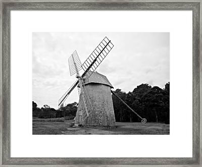 Cape Cod - Old Higgins Farm Windmill Framed Print by Richard Reeve