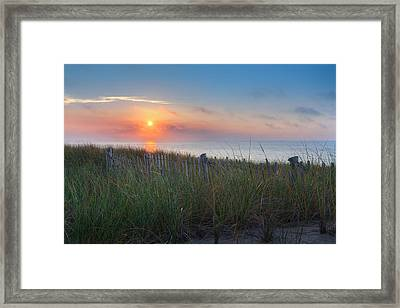 Cape Cod Race Point Sunset Provincetown Framed Print by Bill Wakeley