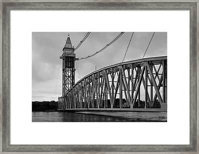 Cape Cod Railroad Bridge I Bw Framed Print by David Gordon