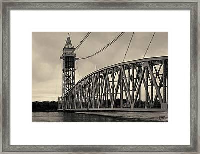Cape Cod Railroad Bridge I Toned Framed Print by David Gordon