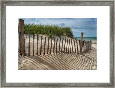 Framed Print featuring the photograph Cape Cod Sand Dunes by Expressive Landscapes Fine Art Photography by Thom