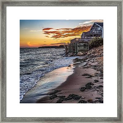 Framed Print featuring the photograph Cape Cod September by Kendall McKernon