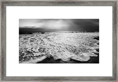 Cape Cod Surf Bw Framed Print