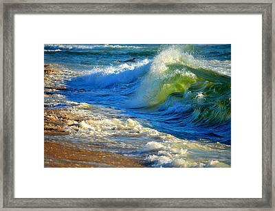 Cape Cod Surf Framed Print by Dianne Cowen