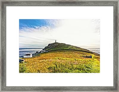 Cape Cornwall Headland Framed Print by Terri Waters