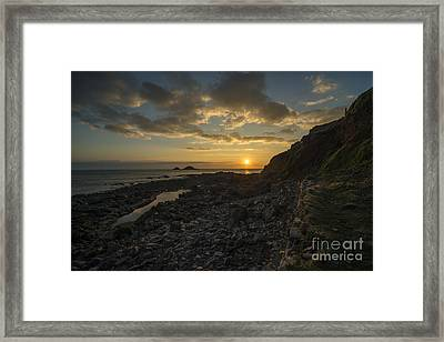 Cape Cornwall Sunset  Framed Print