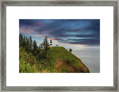 Cape Disappointment After Sunset Framed Print by David Gn