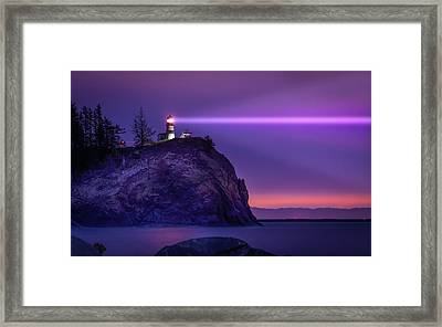 Cape Disappointment Light Framed Print