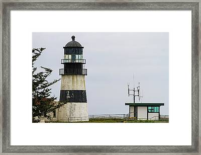 Cape Disappointment Lighthouse Closeup Framed Print by David Gn