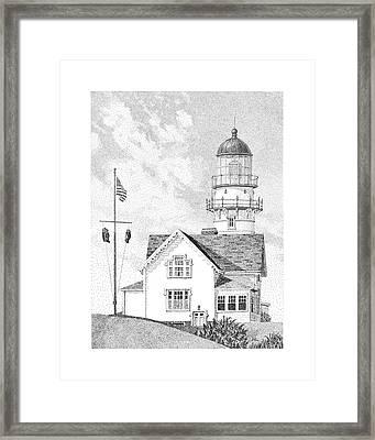 Cape Elizabeth Light Framed Print