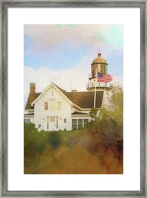 Cape Elizabeth Lighthouse 2 Framed Print by Terry Davis