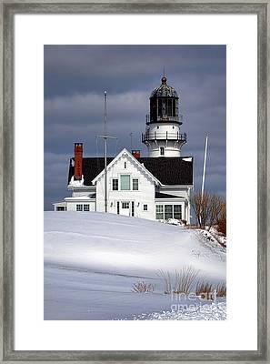 Cape Elizabeth Lighthouse Framed Print by Olivier Le Queinec