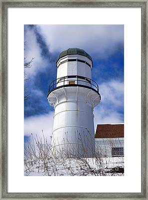 Cape Elizabeth Western Lighthouse Framed Print by Olivier Le Queinec