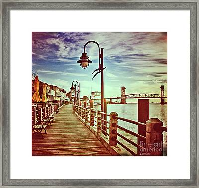 Cape Fear River Front Framed Print by Phil Mancuso