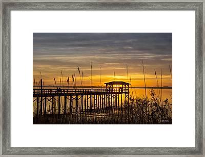 Cape Fear Sunset Fort Fisher Framed Print