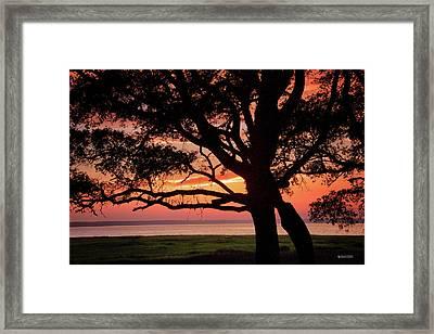 Cape Fear Sunset Overlook Framed Print