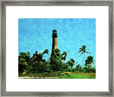 Cape Florida Lighthouse Framed Print