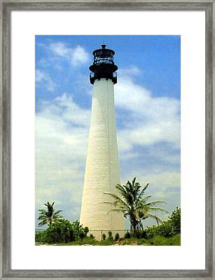 Framed Print featuring the photograph Cape Florida Lighthouse by Frederic Kohli