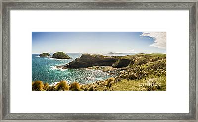 Cape Grim Cliff Panoramic Framed Print