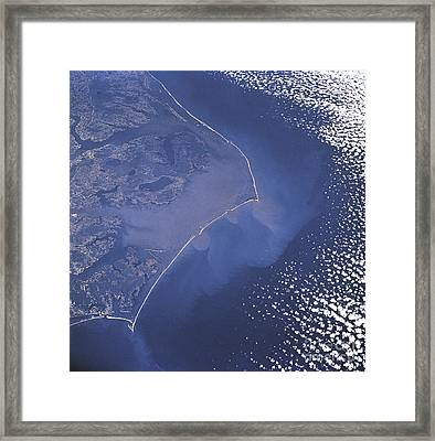 Cape Hatteras Islands Seen From Space Framed Print by Science Source