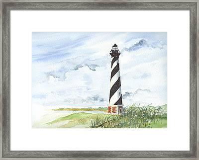 Cape Hatteras Lighthouse Framed Print by Denise   Hoff