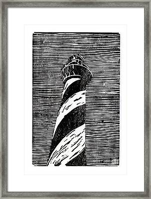 Framed Print featuring the painting Cape Hatteras Lighthouse II by Ryan Fox