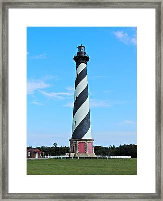 Cape Hatteras Lighthouse Lawn Framed Print