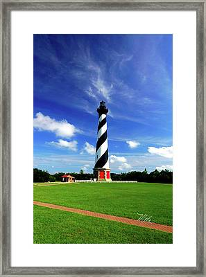 Framed Print featuring the photograph Cape Hatteras Lighthouse by Meta Gatschenberger