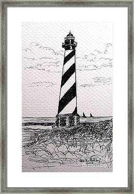 Cape Hatteras Lighthouse Nc Framed Print by Julie Brugh Riffey