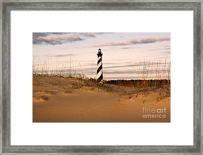 Framed Print featuring the photograph Cape Hatteras Lighthouse by Tony Cooper