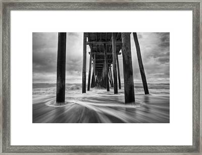 Cape Hatteras Outer Banks Nc - Rodanthe Fishing Pier Framed Print by Dave Allen