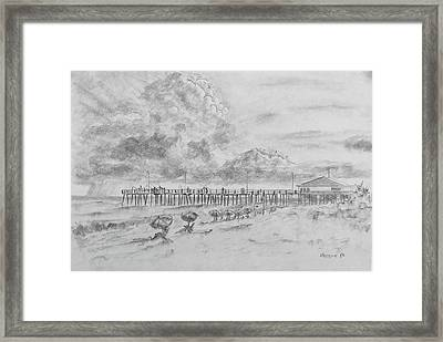 Cape Hatteras Summer Day Framed Print