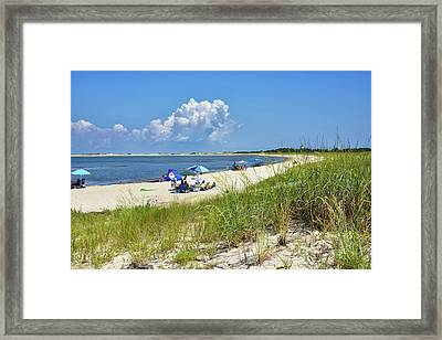 Framed Print featuring the photograph Cape Henlopen State Park - Beach Time by Brendan Reals