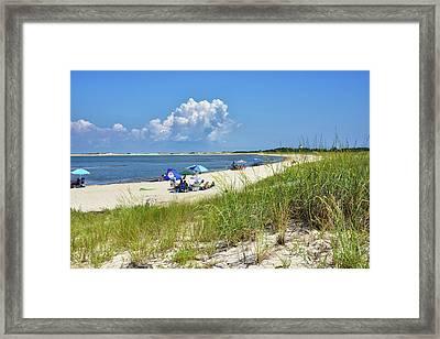 Cape Henlopen State Park - Beach Time Framed Print by Brendan Reals