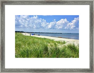 Framed Print featuring the photograph Cape Henlopen Delaware by Brendan Reals