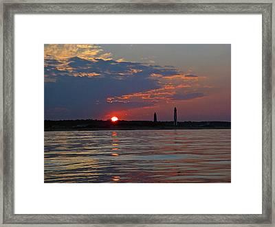 Cape Henry Sunset Framed Print