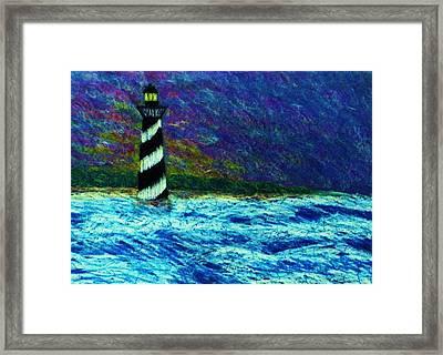 Cape Hetteras Light House Framed Print by Jeanette Stewart