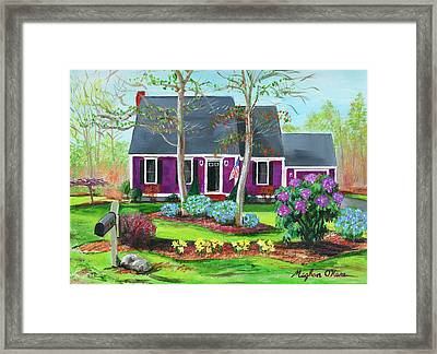 Cape House Framed Print