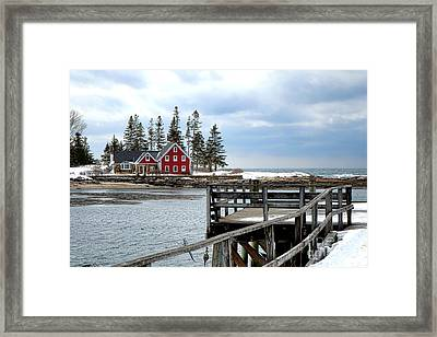 Cape Island From Newagen Framed Print by Olivier Le Queinec