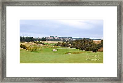 Cape Kidnappers  1 Golf Course New Zealand  Framed Print