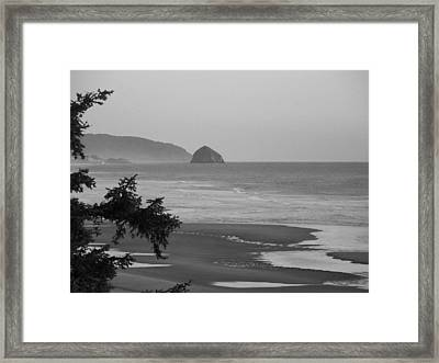 Framed Print featuring the photograph Cape Kiwanda by Angi Parks
